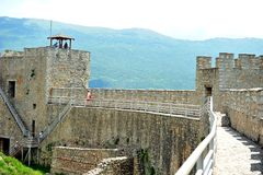 Samuel`s Fortress in Ohrid, Macedonia stock image