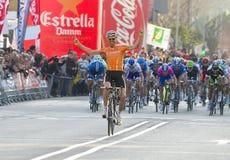 Samuel Sanchez wint de race Stock Foto's
