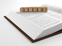Samuel und die Bibel lizenzfreies stockfoto