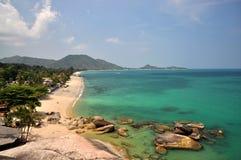Samui пляжа Lamai стоковые фотографии rf