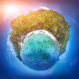 海岛samui泰国 完善的手段背景 库存照片