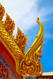 Samui bangkok   thailand incision of the buddha gold  temple Royalty Free Stock Images