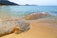 Samui  bay isle white  beach    rocks   thailand asia Stock Image