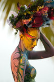 Samui body painting royalty free stock photography