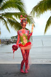 Samui body painting Royalty Free Stock Photos