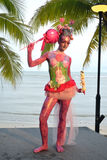 Samui body painting Royalty Free Stock Image
