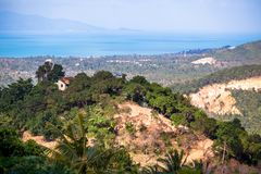 Samui Island sea view from mountain Royalty Free Stock Photography