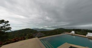 Samui island swimming pool timelapse stock footage