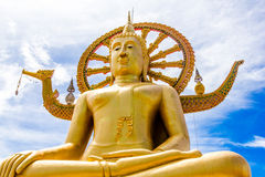 Samui lake temple statue Royalty Free Stock Images