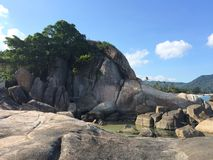 Samui. Sea paradise stones mountain hill royalty free stock image