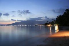 Samui Tailandia del KOH di tramonto della spiaggia di Lamai Immagine Stock Libera da Diritti