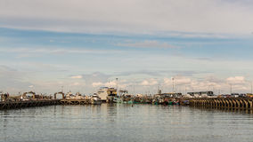 SAMUI TAJLANDIA, FEB, - 04: Na Thon molo w Koh Samui, Tajlandia Fotografia Royalty Free