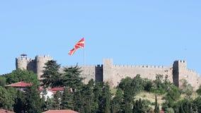 Samuil fästning Ohrid Makedonien stock video
