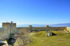 Samuil Fortress Ohrid, Makedonien royaltyfria foton