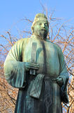 Samurai. Ancient bronze statue of samurai in Tokyo, Japan Stock Photos