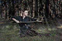samurai royaltyfria bilder