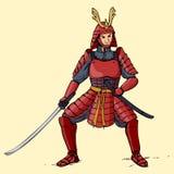 Samurai royaltyfri illustrationer