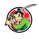 Samurai. Japanese samurai were swinging a samurai sword Stock Photo