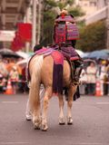 Samurai. During a Japanese street festival Royalty Free Stock Photography