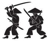 samurai Arkivbild