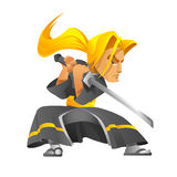 Samurai Foto de Stock Royalty Free