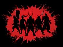 samurai royalty-vrije illustratie