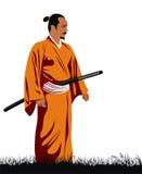 Samurai. Abstract vector illustration of samurai Stock Photo