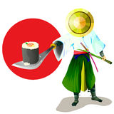 samurai stock illustrationer