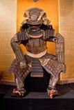 Samurai armor. Historic samurai armor on yellow Stock Photos