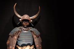 Samurai armor. Historic samurai armor on black Royalty Free Stock Photo