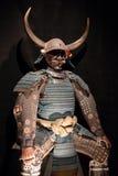 Samurai armor. Historic samurai armor on black stock photos