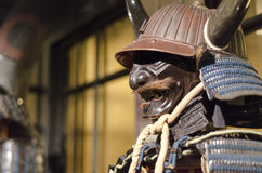 Samurai in armor. Historical exhibition 47 Ronin Stock Photos