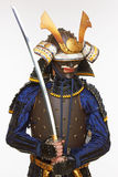 Samurai in armor Royalty Free Stock Images