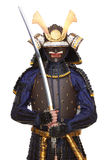 Samurai in armor Royalty Free Stock Image