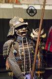 Samurai in armor. With a spear and a historical exhibition 47 Ronin Stock Image