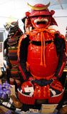 Samurai armour wear by ancient Japanese soldier. Shot of Samurai armour wear by ancient Japanese soldier Stock Images