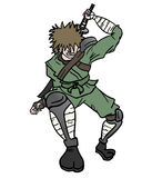 Samurai attack Stock Photo