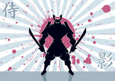 Samurai Background. Samurai warrior background. No transparency and gradients used Royalty Free Stock Photos