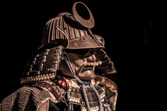 Samurai body armor. Isolated on black background Royalty Free Stock Photo