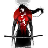 Samurai. Bushido - Japanese word for the way of the  life Stock Photography