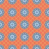 Samurai Chips. Seamless Ukiyo-e Inspired Background Pattern Royalty Free Stock Images