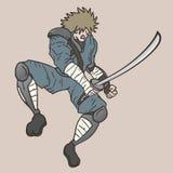 Samurai d'annata Fotografia Stock