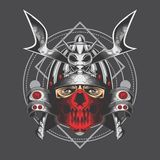 Samurai d'argento royalty illustrazione gratis