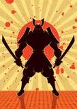 Samurai da sombra Fotografia de Stock Royalty Free