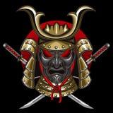Samurai de la máscara con katana Imágenes de archivo libres de regalías