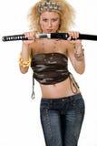 Samurai de la señora Fotos de archivo libres de regalías