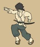 Samurai de la velocidad Imágenes de archivo libres de regalías