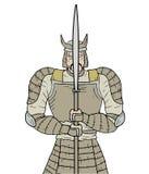Samurai de piedra Imagen de archivo libre de regalías