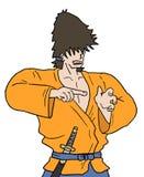 Samurai del combattente Immagini Stock Libere da Diritti