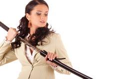 Samurai dell'ufficio immagine stock libera da diritti